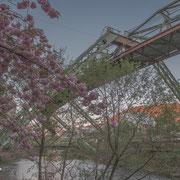 Trasse der Schwebebahn in Wuppertal