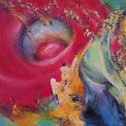 Farbenmagie - Seelenanbindung 70x50cm inkl. Schattenrahmen