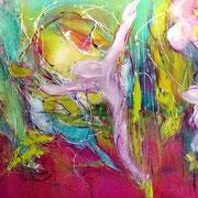 Farbenmagie - Seelenreise  80x40cm
