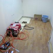 マンション リノベーション 無垢材床の増張り