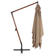 ombrellone #legno #braccio #laterale #sbalzo #beige #4x3m