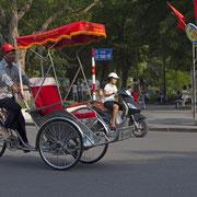 Fahrradrikscha in Saigon.