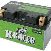 Unibat X-Racer Lithium 4, 290 CCA, Abmaße 150 x 87 x 93 mm, Gewicht 1,1 kg
