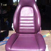 Autoledersitz nach Reparatur