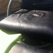 Rolf Benz Sessel Detail nachher