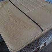 Sitzfläche mit Reifenabdruck