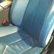 Autoledersitz nach Aufbereitung