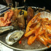 Meeresfrüchte Platte im Hotel New York