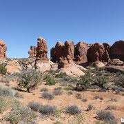 Die Felsen stehen einfach so rum...