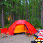 Motorcycle Campground in Tok