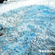der Gletscher mit seinen besonderen Farben