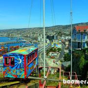 alter Holzaufzug in Valparaiso