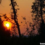 ...mit spätem Sonnenuntergang