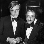 """Emil und Alfredo, 1980. Das Bild zeigt die beiden Künstler Emil und Alfredo in jüngeren Jahren. Emil trat mit """"E wie Emil"""", Alfredo mit der Schlagzeugnummer """"Granada"""" auf. Foto: Josef Ritler."""