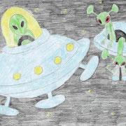 """""""Жители далёких планет"""". Рисовала Алина К., 4б класс"""