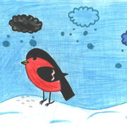 Анастасия К., 3а кл. Снегирь