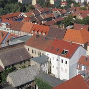 Blick vom Kirchturm Richtung Torgauer Straße
