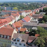 Blick vom Kirchturm in die Schliebener Straße