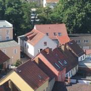 "Blick vom Kirchturm zum ""Magistereck"""
