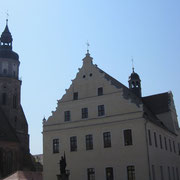 Rathaus und St. Marien Kirche