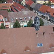 Blick vom Kirchturm Richtung Markt