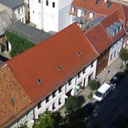 Blick vom Kirchturm in die nördliche Kirchstraße