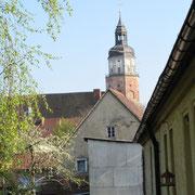Blick vom nördlichen Stadtwall auf die St. Marien Kirche