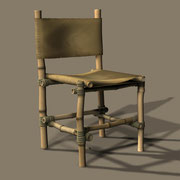 The modellers built everything possible from bamboo. From regular chairs ...