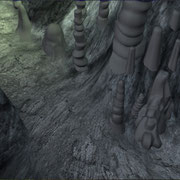 Obviously a work in progress. I coulnd't use any displacement whatsoever in this movie but even in the caves my rock shaders worked pretty well. The final picture from the movie can be found above.The rockmaps were done in Zbrush.