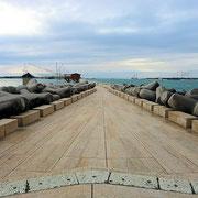 Sottomarina/Chioggia Damm zum Leuchtturm
