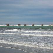 Sottomarina/Chioggia Damm zum Leuchtturm mit Anglerlodges