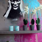 Wandmalerei Urban-Style, Küchenstudio proform, Weinheim