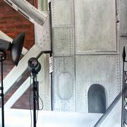"Wandmalerei/Illusion, Fotokulisse ""Stahl/Industrie"", Fotostudio Bucher"