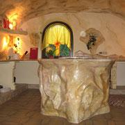 Küche, Steinimitation, Marmorierung, Privatkunde