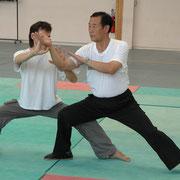 Alain Chauveau et Me Wang Xi an à Parthenay (2004)