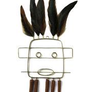"""""""Sculpture murale Hopi""""- Laiton et faïence, Alice Toumit"""