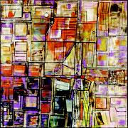 """""""Projets urbains""""- acrylique sur toile- 80x80 cm- Sylvie trilles Fontaine"""