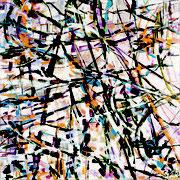 """""""Cinétique""""- acrylique sur toile- 80x80 cm- Sylvie trilles Fontaine"""