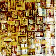 """""""Présence""""- acrylique sur toile- 80x80 cm- Sylvie trilles Fontaine"""