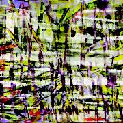 """""""Reflets""""- acrylique sur toile- 55x46 cm- Sylvie trilles Fontaine"""
