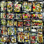 """""""Géométries variables""""- acrylique sur toile- 80x80 cm- Sylvie trilles"""