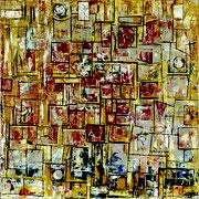 """""""Envolée""""- acrylique sur toile- 80x80 cm- Sylvie trilles Fontaine"""