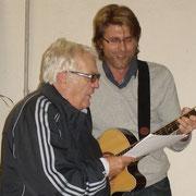 Machten tolle Stimmung beim Hoffest: Josef Heigl, Hans Jörg Wagmann
