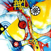 Homenaje a Wolf Vostell - Acrílico sobre lienzo 50 x 50 cm