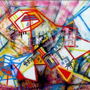 Gratia Plena - Mixta sobre foam 140 x 100 cm