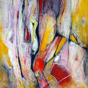 Rotura y ... Punto y Aparte - Mixta sobre lienzo 73 x 54 cm