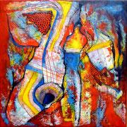 La Duda - Mixta sobre lienzo 40 x 40 cm