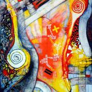 Espiral Positivo - Mixta sobre lienzo 130 x 97 cm  /En Arte Actual Gallery On Line