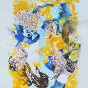 Träumerei, Acryl, Stifte, 30 x 40 cm