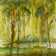 Urwald, Öl auf Leinwand, 30 x 30 cm